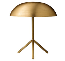 Bloomingville Tischlampe Tripod Brushed Gold