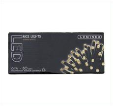Kaemingk LED Lichterkette LUMINEO Ricelight 80 L außen