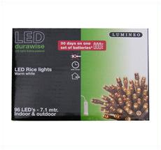 Kaemingk LED Lichterkette LUMINEO Ricelight innen+außen 96 L Batterie
