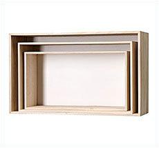 Bloomingville Large Storage Boxes Wood / White