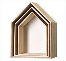 Bloomingville klein Aufbewahrungskisten Haus Holz / Weiß