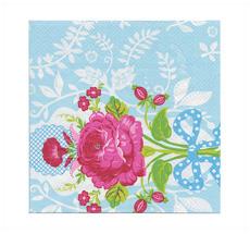 PIP Studio Papierservietten Floral Blau