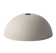 ferm LIVING Lampenschirm COLLECT Dome Light Grey
