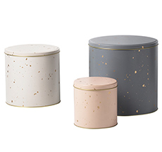 "ferm LIVING Metalldosen ""Confetti"" 3er-Set"