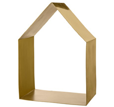 Bloomingville Shelf House Shaped Brushed Gold