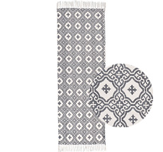 IB LAURSEN Teppich Graues Muster 60x180cm