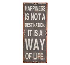IB LAURSEN Metallschild Happiness ...