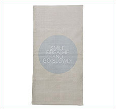 Bloomingville Teppich-Läufer Smile Breathe Move Natur/Grau