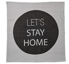 Bloomingville Teppich Let's Stay Home Schwarz/Grau
