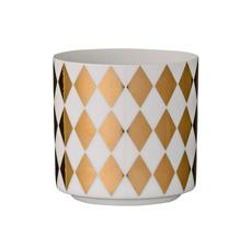 Bloomingville Windlicht Harlequin White/Gold