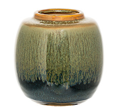 Bloomingville Vase Green/Blue/Curry