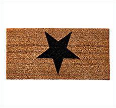 Bloomingville Fußmatte Black Star