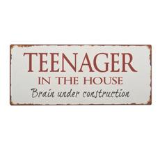 IB LAURSEN Metallschild Teenager