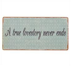 IB LAURSEN Metallschild A true lovestory