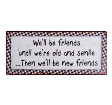 IB LAURSEN Metallschild We will be friends