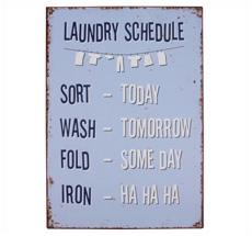 IB LAURSEN Metallschild Laundry Schedule