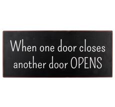 IB LAURSEN Metallschild Doors