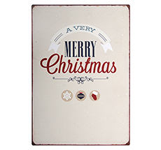 "IB LAURSEN Metallschild ""A very Merry Christmas"""