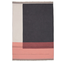 ferm LIVING Überwurf Colour Block Rose