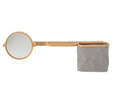 Bloomingville Wandregal mit Spiegel Bambus/Grey
