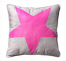Bloomingville Kissen Star Neon Pink