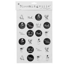 Bloomingville Sticker Weihnachten Schwarz