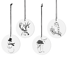 Bloomingville Gifttags Print White Set of 4