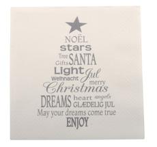 IB LAURSEN Papierservietten Weihnachtsbaum Grau