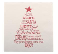 IB LAURSEN Papierservietten Weihnachtsbaum Rot