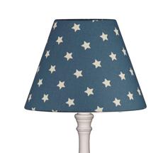 Lampenschirm Sterne auf Blau