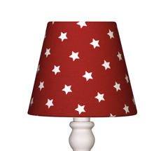 Lampenschirm Rot mit Sternen