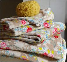 Pip Studio Handtücher Chinese Blossom Khaki