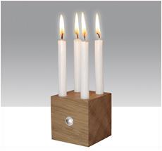 Raumgestalt Lichtwürfel Eiche inkl. 10 Kerzen