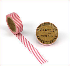 PYNTit Washi Tape Stripes Pink