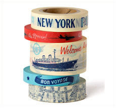 Cavallini Paper Tape Vintage Travel