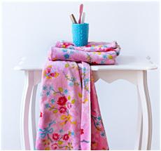 Pip Studio Handtücher Chinese Blossom Pink