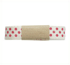 GreenGate Geschenkband Herringbone Dot Red