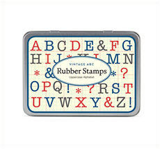 Cavallini Stempelset Alphabet Großbuchstaben
