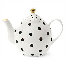 Miss Étoile Tee-/Kaffeekanne Dots Black
