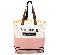 "Disaster Designs Tragetasche Tote Bag Arm Candy ""Here, There..."""
