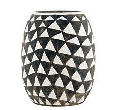 House Doctor Vase Triangular Schwarz/Weiß