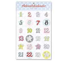 krima & isa Sticker Adventskalender Sterne