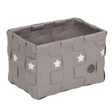 Handed By Toledo Korb mit Sternen Beige/Stern Weiß