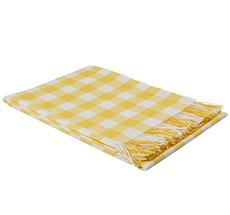 Rice Tagesdecke Baby Alpaka Kariert Gelb