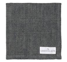 GreenGate Stoffserviette Heavy Linen Dark Grey