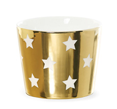 Miss Étoile Schale Stars Gold/Weiß