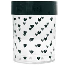 Miss Étoile Aufbewahrungs-Dose Hearts L, schwarzer Deckel