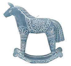 GreenGate Kerze Horse Dusty Blue Large