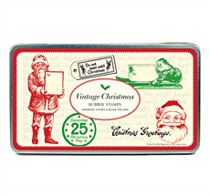 Cavallini Stempelset Vintage Christmas