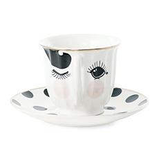 Miss Étoile Kaffeetasse mit Untertasse Eyes
